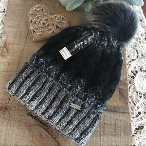 💕NWT Black Ombré Knit Beanie